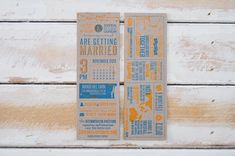 Infographic Letterpress Wedding Invite from Little Peach Co