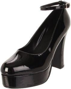 Heel Height: Approx. 5'' Tall. Classic platform pump. Closed toe. Manmade.