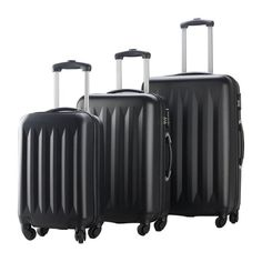 3 Pcs ABS Trolley Luggage Travel Set
