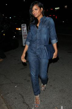Premier destination for African-American and Black Celebrity Gossip, Entertainment News, and Black Hollywood Rumors. Dungarees, Overalls, Denim Attire, Black Celebrity Gossip, Karrueche Tran, Christina Milian, Dope Outfits, Jumpsuits, Hollywood