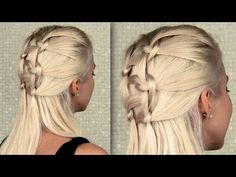 Double knotted braid tutorial - everyday half updo and ponytail hairstyles for long hair