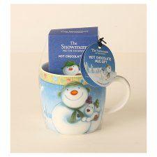 Snowman And Snowdog Hot Chocolate Mug