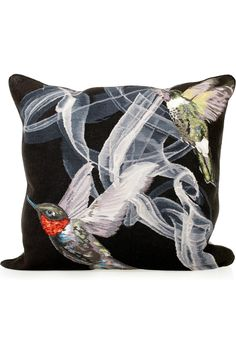 alexander mcqueen hummingbird tapestry cushion