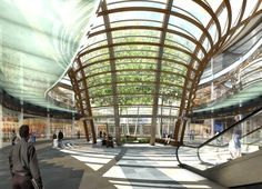 Designed by KMD architects for the heart of Santa Fe, Mexico the multi-use Parque Centro buries 65,000 square feet of shopping and…