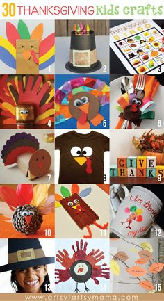 30 Thanksgiving Kids Crafts