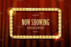 Bright red marquee with light bulbs on dark background. Very Cool for casino, cinema, disco or party advertisement. Graphic Design Layouts, Layout Design, Retro Vector, Go Red, Borders And Frames, Invitation Design, Invite, Stars At Night, Diy Party Decorations