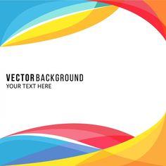 Asombroso fondo a todo color con formas onduladas  Vector Gratis
