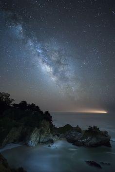"""Amazing Milky Way,"" Julia Pfeiffer Burns State Park, by Sandy Chen"