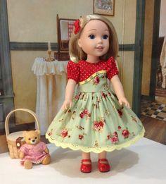 Robe Rose Blossoms Wellie Wisher et slip avec bow par craftymagaw