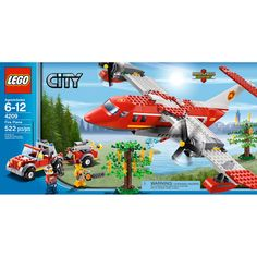 Compare prices on LEGO City Set Fire Plane from top online retailers. Save money on your favorite LEGO figures, accessories, and sets. Lego City Fire, Lego Fire, Lego City Police, Lego Plane, Bay Door, Lego City Sets, Lego Toys, Lego Games, Lego Lego