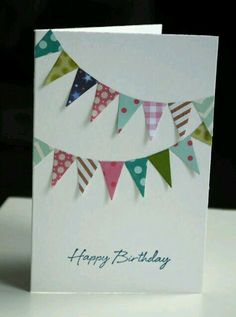 Geburtstagskarte basteln idee