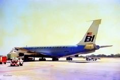 Braniff International B707 in Acapulco 1971