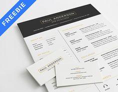 """다음 @Behance 프로젝트 확인: """"Free Resume Template"""" https://www.behance.net/gallery/28828421/Free-Resume-Template"""
