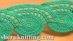 Paisley style edging free crochet patterns for beginners - YouTube