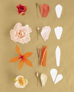 how to make paper flowes
