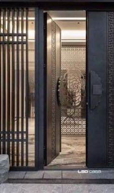 hotel door This is our daily lobby design ideas Door Design Interior, Main Door Design, Home Design, Lobby Interior, Design Ideas, Chinese Door, Chinese Garden, Hotel Lobby Design, Hotel Door