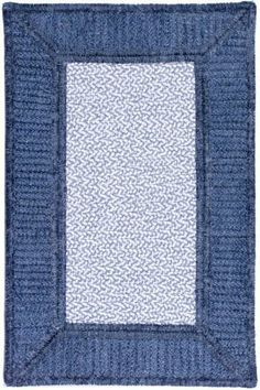 Gravel Bay Area Rug Blue 9' Square  Home Decorators