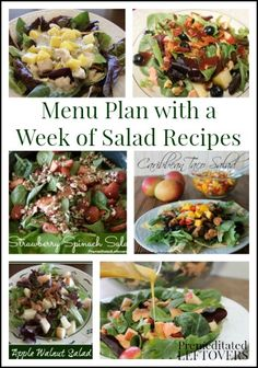 Menu Plan with a Week of Salad Recipes
