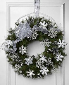 5 wreath ideas for creating a-door-able door using a simple green Christmas wreaths Get inspiration and crafting ideas at Walmartcom