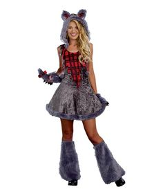 Sometimes it's fun being someone else for a day, especially with a sassy costume like this to wear. Made from high-quality fabrics with plenty of care in the details, this dress-up outfit will be the star of any costume party.Includes hooded dress with attached tail, fingerless gloves and boot covers100% polyesterDry cl...