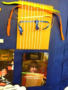 How to create a simple weaving board. My girls would love this. Eyfs Classroom, Classroom Displays, Future Classroom, Classroom Ideas, Abc Does, Early Years Classroom, Funky Fingers, Foundation Stage, Visible Learning