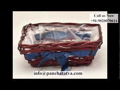 Cane basket - Suppliers of Cane Baskets - Importers in Mumbai, INDIA - YouTube