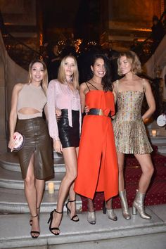 Elena Perminova Goga Ashkenazi and Arizona Muse attend the 20 Years Of MariaCarla Party as part of the Paris Fashion Week Womenswear Spring/Summer...