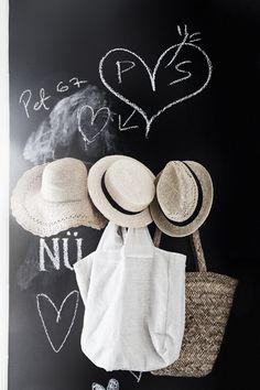 Blackboard paint and straw hats