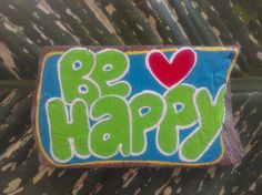 Be happy hand painted driftwood sign hand painted wooden