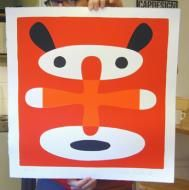 'Mouse', limited edition screen print, 500x600mm, by Lasse Skarbovik. £354 from www.castorandpollux.co.uk