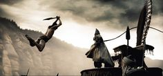 Tyrone Benskin and Michael Fassbender in 300 300 Film, 300 Movie, Michael Fassbender, Vincent Regan, Rodrigo Santoro, Legendary Pictures, Greek Warrior, Frank Miller, Photographic Studio