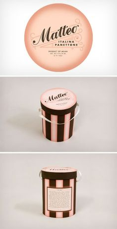 Great panettone packaging, really makes you want to buy, and that's what all design should do #packaging