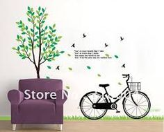 antique bicycle wall decal - Google Search
