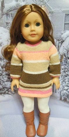 AMERICAN GIRL Sweater dress & leggings 2 piece by TheDollyDama, $20.00
