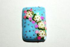 #cabochon 27x20 #handmade #polymerclay http://youtu.be/zYHLHyxaQVw