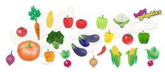Vegetables wall decals peppers onions tomatoes by BabyGraphics