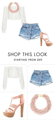 """Sans titre #847"" by candice-cmd ❤ liked on Polyvore featuring Elizabeth and James, Charlotte Russe and Kenneth Jay Lane"