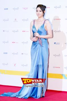 Yoon Ju, 'Wearing a frothy sky blue dress'… Red carpet of the 49th Annual DaeJong Film Festival [KSTAR PHOTO]