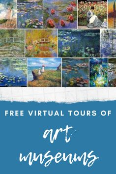 Visit inside art museums, walk around famous landmarks, and see art pieces up close. All for free! Virtual Travel, Virtual Art, Virtual Tour, Virtual Reality, Museum Education, Art Education, Classical Education, Virtual Museum Tours, Inside Art