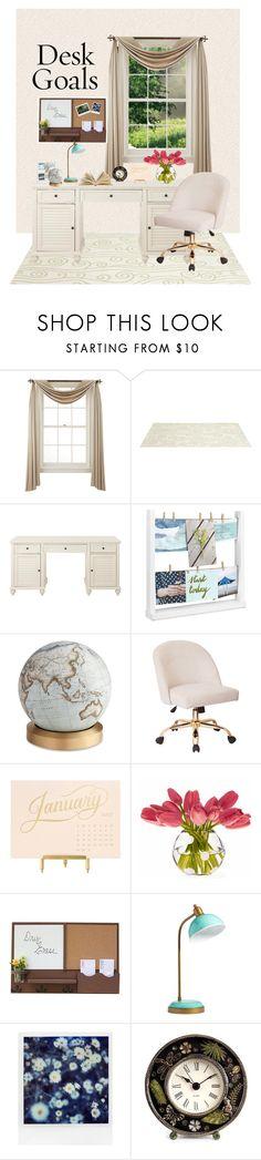"""Desk Goals"" by yolanda-nevia on Polyvore featuring interior, interiors, interior design, home, home decor, interior decorating, Liz Claiborne, Somerset Bay, Home Decorators Collection and Umbra"