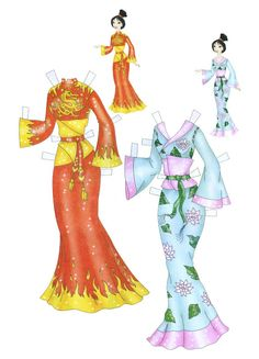 In the Disney movie Mulan, Mulan struggles with who she is, unable to do things right according to their traditions and honor. When her father is called off to war, she takes his place and leaves h… Mulan 3, Paper Toys, Paper Crafts, Paper Doll Costume, Disney Paper Dolls, Decoupage, Paper Dolls Printable, Disney Princess Dresses, Vintage Paper Dolls