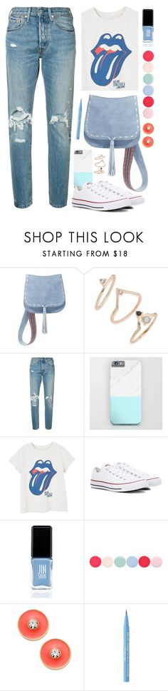 """""""OOTD - Street Style"""" by by-jwp ❤ liked on Polyvore featuring Steve Madden, Topshop, Levi's, MANGO, Converse, JINsoon, Nails Inc., Kate Spade and Too Faced Cosmetics"""