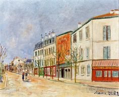 Maurice Utrillo Street In Asnieres oil painting reproductions for sale