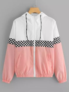 Shop Colorblock Plaid Panel Zip Up Hooded Jacket online. ROMWE offers Colorblock Plaid Panel Zip Up Hooded Jacket & more to fit your fashionable needs. Teen Fashion Outfits, Swag Outfits, Mode Outfits, Trendy Outfits, Girl Outfits, Sporty Fashion, Ski Fashion, Parisian Fashion, Bohemian Fashion