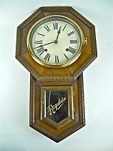 Japanese Schoolhouse Wall Clock, 20th C. WWW.JJAMESAUCTIONS.COM