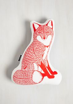 Squad Goals Pillow in Red Fox