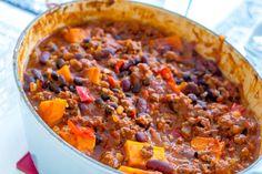 LCHF - Low Carb, Chili con carne med sötpotatis