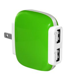 Look at this Green Two-Port USB Wall Charger on #zulily today!