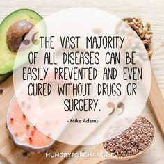 Yet drugs and surgery are one of the first things we try?   www.hungryforchange.tv