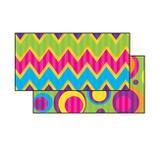 """Checkout the """"Sassy Bubbles & Chevron Double-Sided Bulletin Board Borders"""" product"""